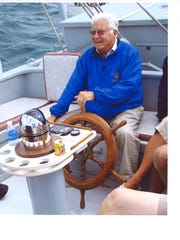 Ellsworth Peterson enjoyed sailing with friends and family aboard the Utopia.