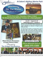 The Oregon SenateAires will perform six dinner cruise