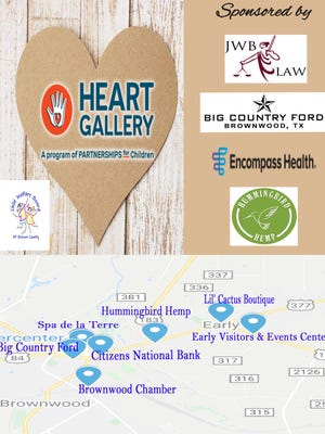 The Brown County Child Welfare Board announced that the Heart Gallery is on display at area businesses.