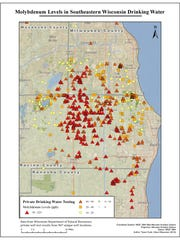 A map from the Clean Wisconsin report shows molybdenum