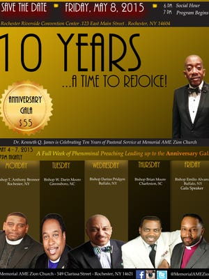 Celebrating 10 Years of Pastoral Service to the Oldest Black Church in Rochester!