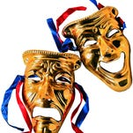 Tragedy and comedy masks.