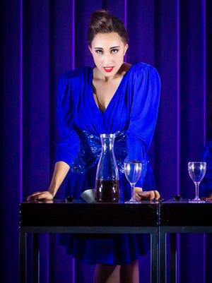 """Krystina Alabado in Broadway's """"American Psycho."""""""