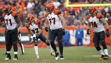 Cincinnati Bengals offensive tackle Cedric Ogbuehi made his NFL debut on Sunday against Cleveland.