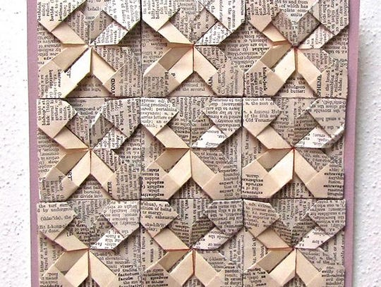 """Origami by Nancy Akerly, part of the """"Paper Thin"""" art"""