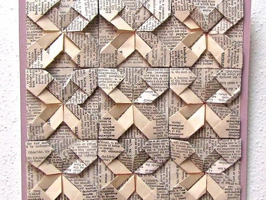 "Origami by Nancy Akerly, part of the ""Paper Thin"" art"