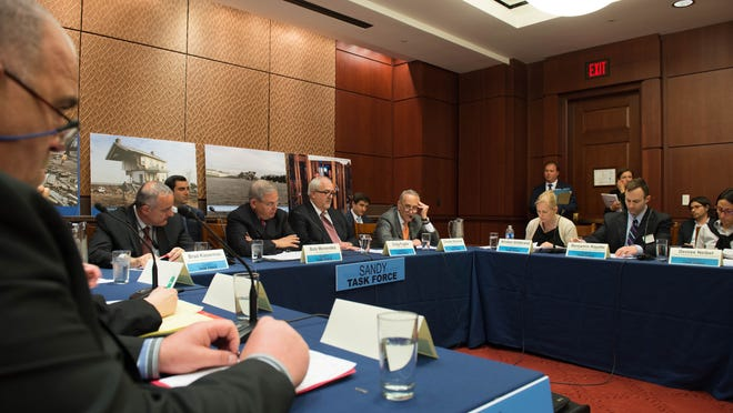 The Sandy Task Force, which formed to examine how to fix the flood insurance claims process after superstorm Sandy, met for the first at the U.S. Capitol on Tuesday afternoon.