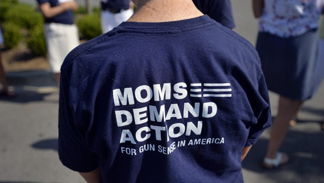 Moms Demand Action for Gun Sense in America delivered more than 114,000 petition signatures to Cabela's in Greenville asking for more strict gun sales procedures at the Cabela's stores across the U.S.