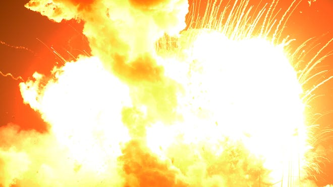 Orbital's Antares rocket exploded shortly after takeoff at NASA's Wallops Flight Facility on Tuesday, Oct. 28, 2014.