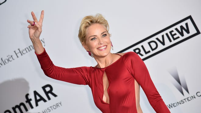 Sharon Stone on May 22 at a charity gala in France. PIZZOLI/AFP/Getty Images ORIG FILE ID: 530061436