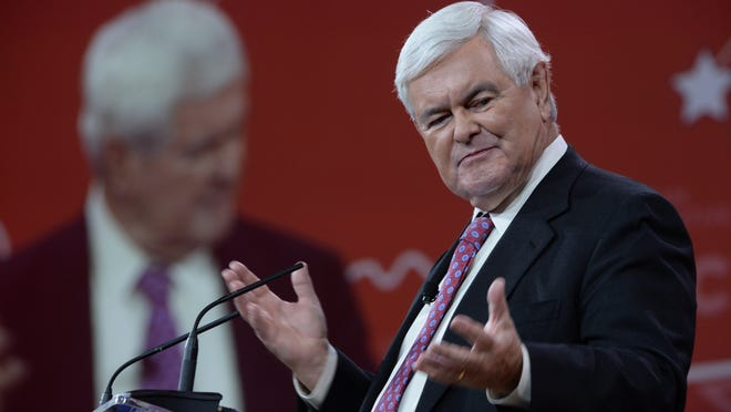Newt Gingrich speaks at the Conservative Political Action Conference on Feb. 26, 2015. (H. Darr Beiser, USA TODAY)