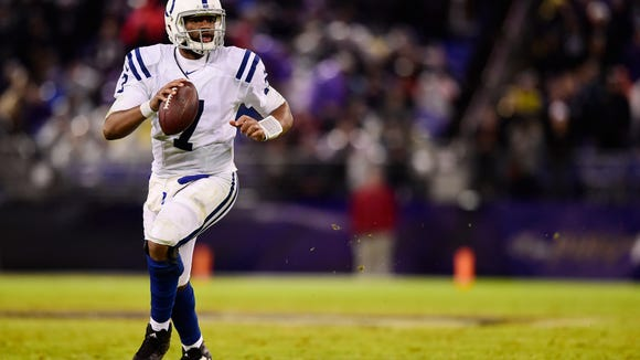 USP NFL: INDIANAPOLIS COLTS AT BALTIMORE RAVENS S FBN BAL IND USA MD