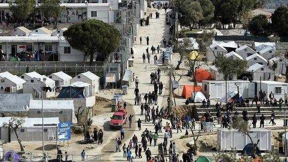 camp moria refugee camp lesbos greece
