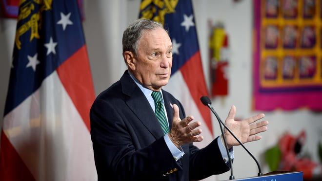 Democratic presidential candidate and former New York Mayor Michael Bloomberg speaks during a press conference at the Lucy Craft Laney Museum in Augusta, Ga., in December.