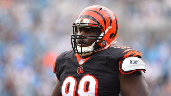 Sep 23, 2018; Charlotte, NC, USA; Cincinnati Bengals defensive tackle Andrew Billings (99) in the fourth quarter at Bank of America Stadium. Mandatory Credit: Bob Donnan-USA TODAY Sports