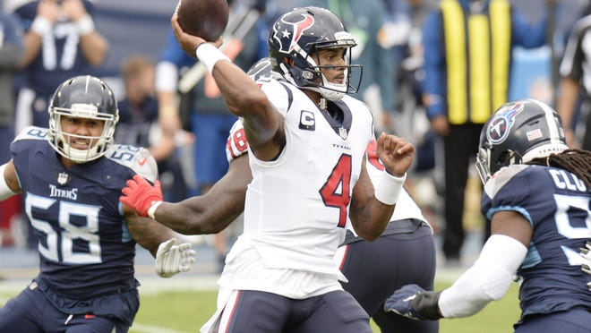 Despite a 42-36 overtime loss to the Tennessee Titans Sunday, Houston Texans quarterback Deshaun Watson had perhaps his best game of the season. Watson threw for 335 yards and a season-high four touchdowns.
