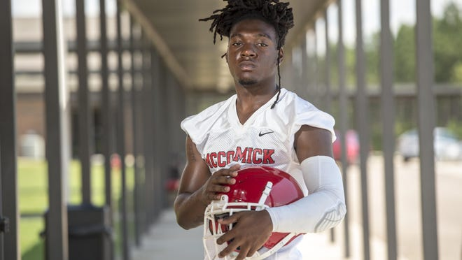McCormick High School football player A'Chean Durant photographed at McCormick High School Wednesday afternoon August 12, 2020 in McCormick, S.C.
