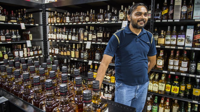 Pranav Patel, manager of Augusta Beverage Center, says during the COVID pandemic sales have increased substantially at the liquor store in Augusta, Ga., Tuesday afternoon August 25, 2020.