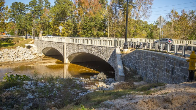 The new Berckman's road bridge spanning Rae's Creek in Augusta Monday afternoon November 16, 2020.