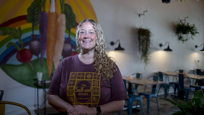 Melanie Harvey, owner of The SolFood Kitchen at Surrey Center in Augusta, Ga., Tuesday morning, August 11, 2020.