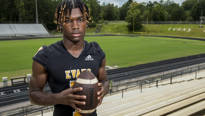 Evans High School football player Jofranstar Graham photographed at his school in Evans, Ga., Friday afternoon August 21, 2020.