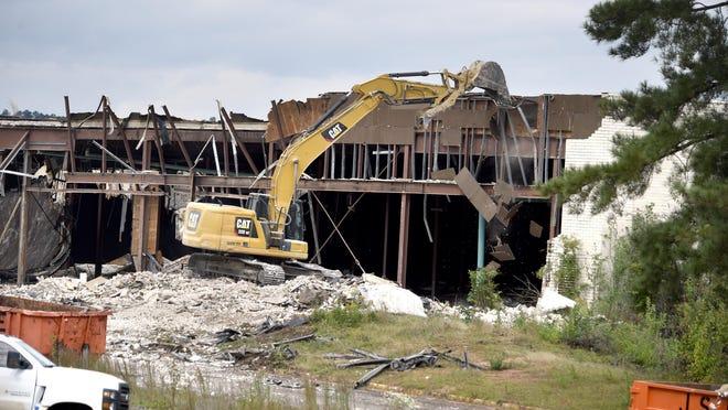 Demolition of Regency Mall in Augusta, Ga., Wednesday afternoon October 28, 2020.