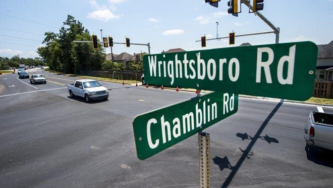 A new traffic light has been installed at the intersection of Chamblin and Wrightsboro Roads in Grovetown, Ga., Friday afternoon August 7, 2020.