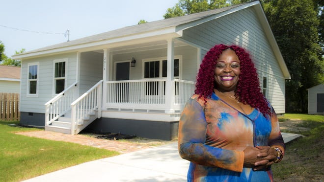 LaDonna Doleman, manager of Golden Harvest Food Bank's Masters Table Soup Kitchen, worked with Turn Back The Block three years to qualify for one of its Harrisburg homes, a three-bedroom, two-bathroom house on Battle Row. Friday afternoon July 17, 2020.