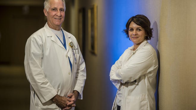 Dr. Bozeman Sherwood, left, and Dr. Ioana Chirca photographed at University Hospital in Augusta, Ga., Thursday afternoon September 10, 2020.