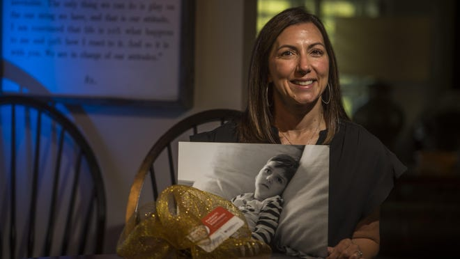 Alanda Grover took the grief over the death of her four-year-old son, Miller, and turned it into a nonprofit that seeks to help other families dealing with childhood cancer. Photographed in Evans, Ga., Monday morning Sept. 21, 2020