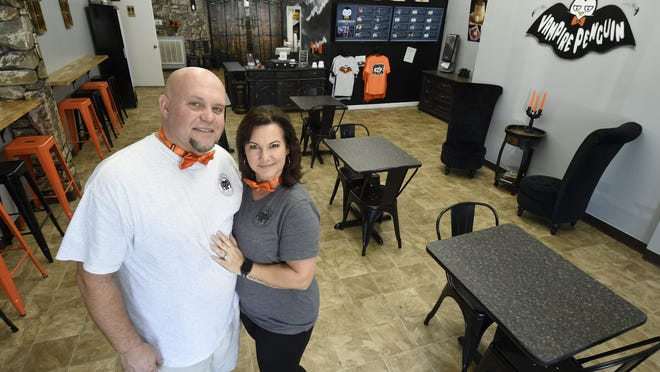 Ryan and Jeannette Moseley are owners of the North Augusta Vampire Penguin franchise and are seen here in their store Wednesday afternoon October 7, 2020 in North Augusta, SC.