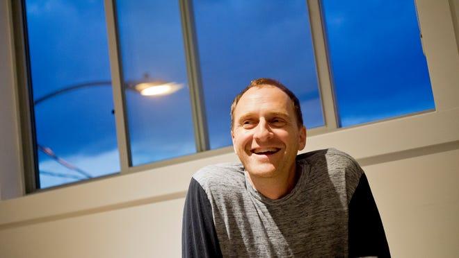 Paul Budnitz, founder of Ello, in the new social media compay's office on Pine Street in Burlington.
