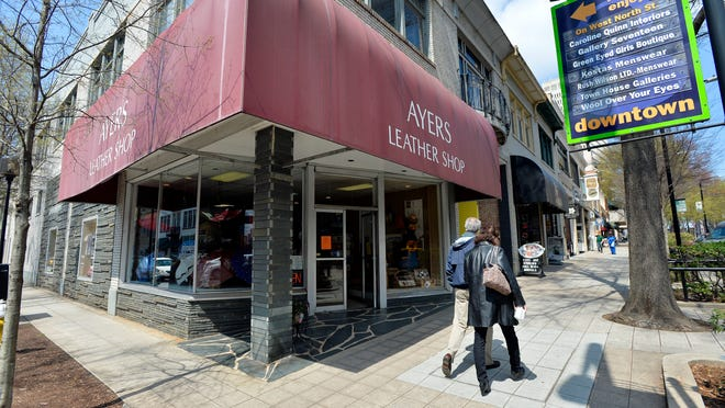 The owner of Ayers Leather Shop and an investor are in a legal fight over the shop's prime downtown location at the corner of North Main and West North streets.