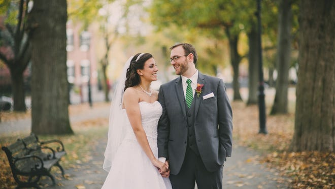 They were married at the Old Town Hall in Salem, Massachusetts.