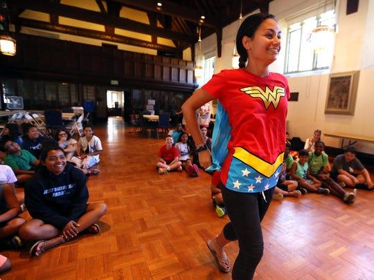 Alaina Boccino of Maplewood dressed as Wonder Woman