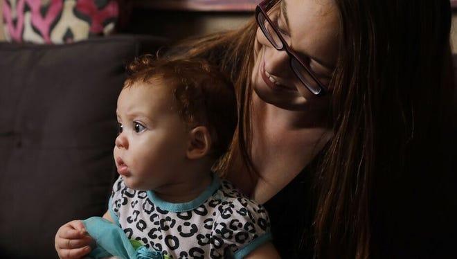 Jessica Craddock and her child