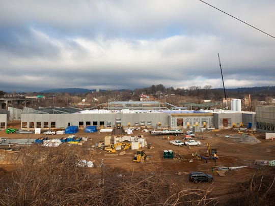 West Asheville's New Belgium brewery is taking shape along the French Broad River. The $140 million brewery is on track to open at year's end, joining a vibrant regional brew scene that includes Sierra Nevada in Mills River, 10 miles from Asheville and Oskar Blues in Brevard.
