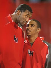 Lawrence North's Michael Conley, right, and Greg Oden,