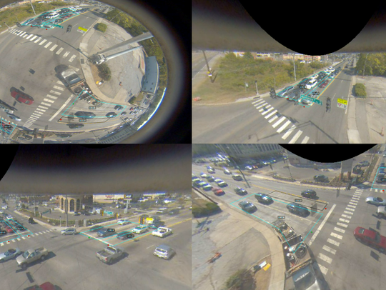 A look at what GRIDSMART sees at an intersection.