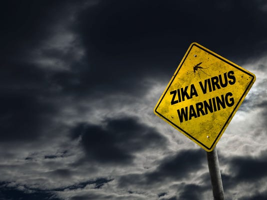 Zika Virus Warning Sign With Copy Space