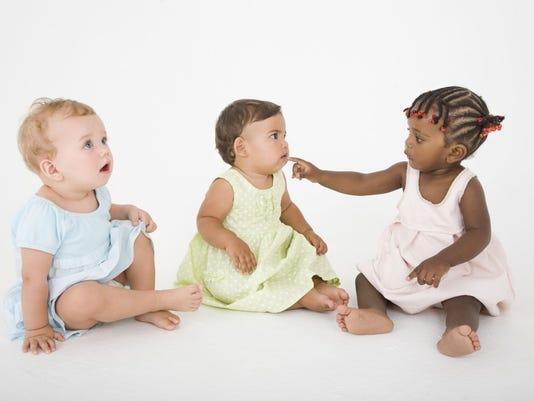 Portrait of babies