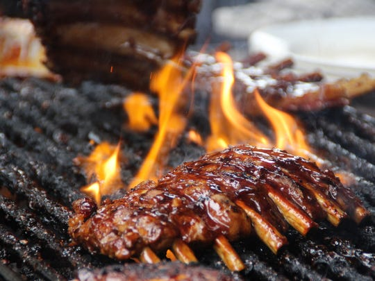 Rack of pork ribs in Bali flame-grilled to perfection