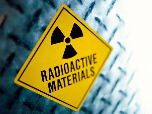 image of radioactive materials sign