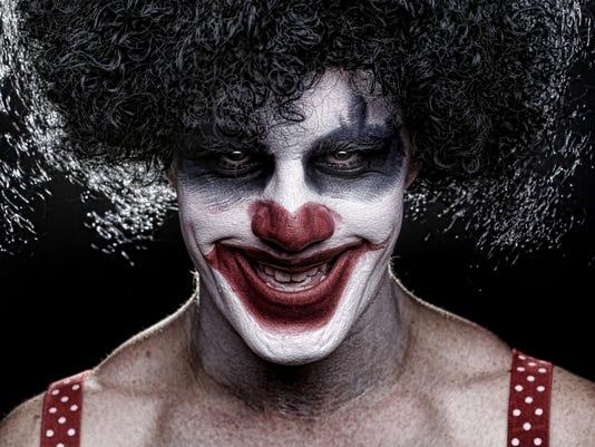 Evil Spooky Clown Smiling