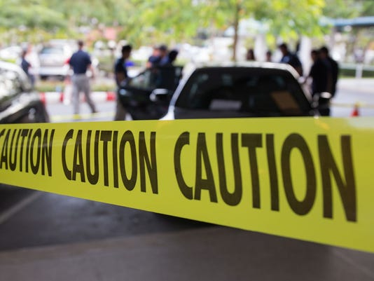 crime scene protect by caution tape
