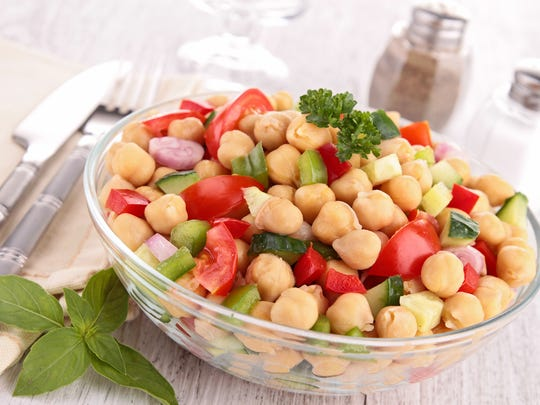 Ceci bean (chickpea) salad is one of the courses at the Sparks Greenbrae Lions' annual fundraiser on Sept. 24.