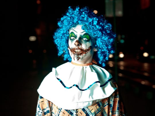 Stock photo of a scary clown.
