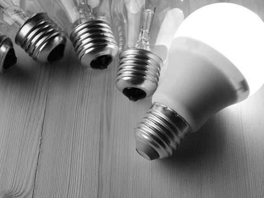 Trade in used incandescent bulbs for new LED bulbs at an event Friday, Oct. 28, 2016.
