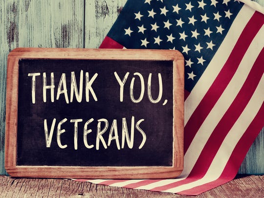 Some local restaurants are offering free or discounted meals to veterans on Veterans Day, Nov. 11.