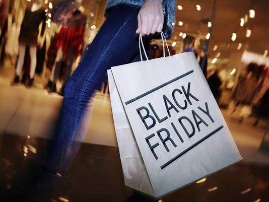 Visiting mall on Black Friday